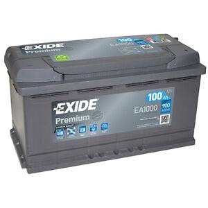 Exide Autobatterie 100AH 12V Premium Carbon Boost EA1000 statt 88Ah 90Ah 92Ah