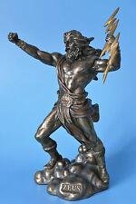 zeus,olymph,21x10cm,bronziert,figur,statue,skulptur,blitz,gott,götter,griechisch