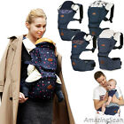 I-Angel Denim Hipseat + Hipseat Carrier 5 Colors, Ergonomic Design, Baby Wrapper