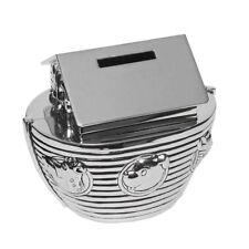 Noah's Ark Silver Plated Christening Money Box Baby Piggy Bank NEW BORN AMT8615