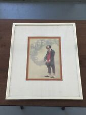 "Robert Owen ""Pondering"" - Thinking Clown - Framed & Matted"