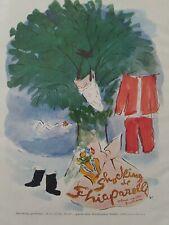 1950 Shocking de Schiaparelli clothesline tree Vertes art vintage ad