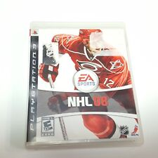 NHL 08 Sony PlayStation 3 2007 Includes Book Hockey Puck PS3