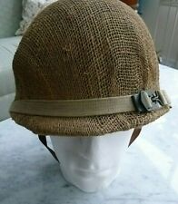 More details for french army m51 helmet including liner and covering