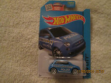 2015 HOT WHEELS HW CITY FIAT 500 BLUE TREASURE HUNT ERROR  50/250  (E)