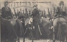 FOREIGN ROYALTY :1909 BELGIUM-Accession of KIng Albert -Remise des drapeaux