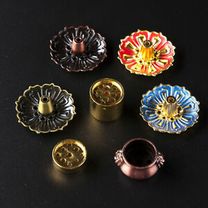 9 Holes Censer Burner Plate Flower Statue Copper Seat Incense Holder Home DY^BI