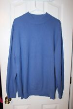 01ece07e2a Lands End Men s Cashmere Turtleneck Sweater Light Blue XXL