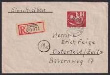 DDR Nr. 272 EF, Debria-Blockmarke auf R-Brief OSTERFELD 28.9.50 (83616)