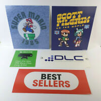 5-pc Video Game Store Signage Scott Pilgram Vs The World; XBOX One; Super Mario