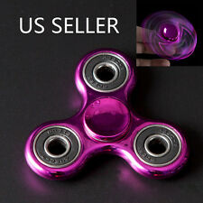 Highlight Hand Finger Spinner Fidget Tri-Spinner 3D EDC Focus Toy Pink