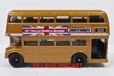 2008 Matchbox #53 (AEC®) Route Master™ Bus GOLD / UNION JACK BANNER / MINT