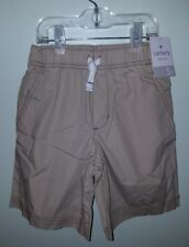 NWT Carter's Boys SIZE 5 Stretch Elastic Waist Shorts KHAKI Cotton SUMMER #32117