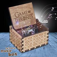 GAME OF THRONES Spieluhr Gravierte Handarbeit Hölzerne Hölzer Musikbox Geschenk
