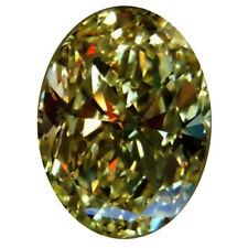 Loose Oval Moissanite Diamond Ring/Pendant 6.10 ct Vvs1/15.70Mm Brown Color