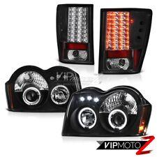 "For 05-06 Jeep Grand Cherokee WK Headlamps Taillamps LED Halo Rim ""Super Bright"""