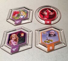DISNEY INFINITY Power Disc Lot Tangled Up Wreck It Ralph 4 Discs PS3 Wii Xbox