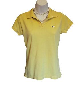 VINEYARD Vines Polo Shirt Size S 4 6 YELLOW Pima Cotton PIQUE Whale S/S Casual