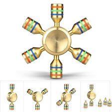 Fidget Spinner Esagonale Tutto in Metallo Otone Componibile 2-4min Antistress