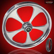 "Harley Davidson Road Glide 21"" inch Custom Front Wheel ""5 Blade"" & Avon Tire"