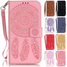 Bling Campanula Wallet Leather Flip Case Cover For Samsung S8 S7 J3 J5 A5 Note 8