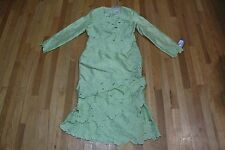 TALLY TAYLOR ESPECIALLY YOURS LONG SLEEVE FLORAL DETAIL DRESS LIME SIZE 10 NEW