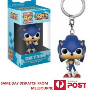 Sonic With Ring Funko Pocket Pop Keychain Vinyl Action Figure Keyring