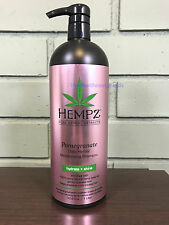 Hempz POMEGRANATE Moisturizing Shampoo 33.8oz LITER W/ Pump! Free 2-Day Shipping