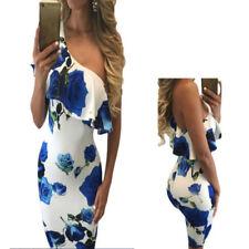 Vestiti da donna blu senza marca con monospalla