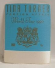 TINA TURNER - VINTAGE ORIGINAL CONCERT TOUR CLOTH BACKSTAGE PASS