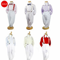4Pcs Formal Toddler Children Boy Kids Suit Set Outfits size 000-16 Wedding Party