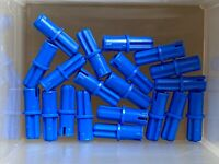 LEGO Parts - Blue Technic Axle Pin w Friction Ridges - No 43093 - QTY 20