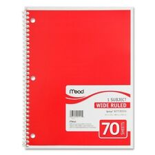 "Mead Spiral Notebook,1-Subject,Wide Rule,70 Sh,10-1/2""x8"",Ast. Case Pack 21"