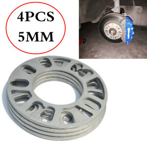4Pcs Silver Aluminum Alloy Tire Spacers Adaptor Shims For 4/5 Stud Wheel Fixings