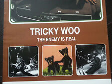 TRICKY WOO Original Rock Poster THE ENEMY IS REAL Tour Glossy Advertisement 1997