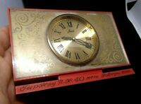 Collectible mechanical TABLE CLOCK AGAT Soviet Russian Made in USSR.VINTAGE
