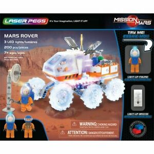LASER PEGS MARS ROVER BUILDING TOY  200 PCS 18002