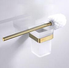 Bathroom Toilet Brush Holder Sus 304 Storage Shelf Glass Cup Set Wall Mount Tool