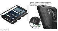 For LG G Stylo LS770 G4 Note Tuff Hybrid ShockProof Protective Case Cover BLACK