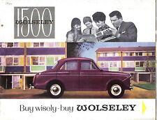 Wolseley 1500 Saloon 1963-65 Original UK colour Sales Brochure No. H&E 6413 6/64