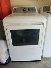 Ge 7.4 cu ft reversible side swing door steam cycle gas dryer (white)