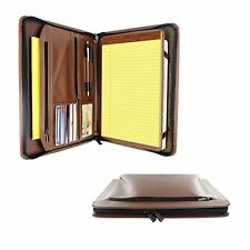 """Case Cover For Apple iPad Pro 9.7"""" Khomo PadFolio Brown Notepad Holder & Pocket"""