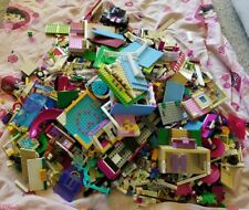 Lego Friends Mixed 16+ lbs Pounds Sorted Lot Pieces 30 Mini-figures Accessories