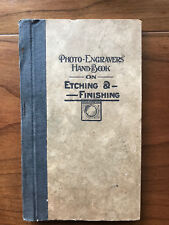 Photo-Engravers' Hand Book on Etching & Finishing by PC Raymer-1921-2nd Ed.Book