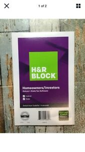 H & R BLOCK Homeowners/Investors Deluxe +Tax Software Federal/State 2019