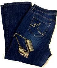 Maurices blue stitching embroidered boot cut spandex denim jeans 24 Reg