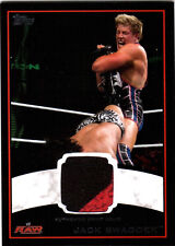 WWE Jack Swagger 2012 Topps BLACK BORDER 2 Color Event Worn Shirt Relic Card /50