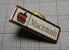 RARE Vintage Apple Computer Original MACINTOSH 128k Gold  Pin 1984. Przypinka
