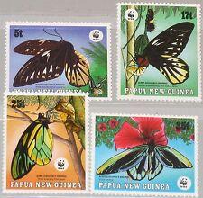 PAPUA NEUGUINEA NEW GUINEA 1988 574-77 697-00 WWF Butterflies Schmetterlinge MNH
