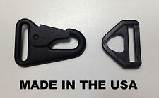 """USA MADE HK H&K 1"""" Style Sling Clip Snap Hook w/ Hook Loop Attachment"""